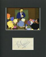 Robert Goulet The Simpsons Bart's Casino Rare Signed Autograph Photo Display