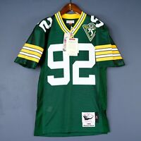 100% Authentic Reggie White Mitchell   Ness 93 Packers NFL Jersey Mens Size  ... f8dd3024e