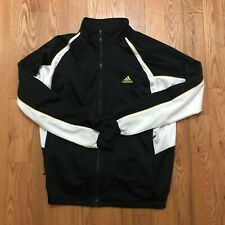Vintage Adidas Zip Up Sweater Track Suit Yellow Black Size XL VTG
