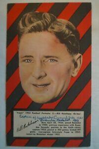 Essendon - 1953 - Vintage -Argus - Large Size Football Portrait- Bill Hutchison