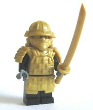 Lego Custom SHOGUN SAMURAI WARRIOR with Custom GOLD Armor and Weapons