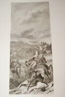 COMBAT D'ARLON 1794 REVOLUTION  GRAVURE 1838 VERSAILLES R1350