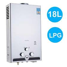 18L Calentador de agua Instantáneo de Gas Butano LPJ Propano Baño Hogar