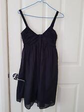 bnwot witchery black summer dress 6 above knee 30% cotton 70% silk