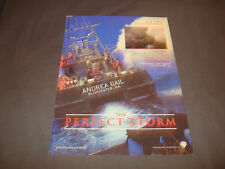 THE PERFECT STORM Oscar ad with 'Andrea Gail, Gloucester, MA.' George Clooney