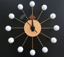 Classic Modern Design White Wood Ball Wall Clock George Nelson Replica