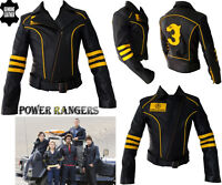 WOMENS POWER RANGER STYLE LADIES CE ARMOUR MOTORBIKE / MOTORCYCLE LEATHER JACKET