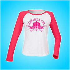 SANTUARI bordo Surf come una ragazza T Shirt Surf Surfer Board Hibiscus Donna