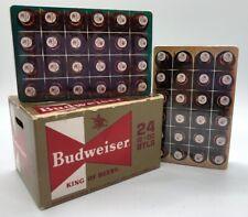 Budweiser Anheuser-Busch Bottle Caps Vintage Playing Cards w/Box -2 Sealed Decks