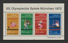 Germany (West) - 1972, Olympic Games, Munich sheet - MNH - SG MS1633