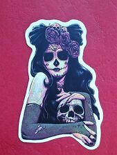 "Sticker Aufkleber ""Gothic Girl"" Matt-Optik Stickerbomb Skateboard Laptop"