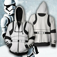 Star Wars 3D Hoodie Sweatshirt Zipper Jacket Coat Darth Vader Jedi Porg Cosplay