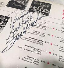 Frank Yankovic Bye Bye My Baby Helidon FLP 04-037 1974 Slovenian Polka Signed!!
