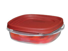 RUBBERMAID 3 CUP EASY FIND LID SQUARE FOOD STORAGE CONTAINER 1777086 NEW RED