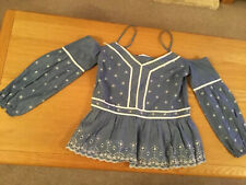 Size  10 Denim Gypsy Top Lovely  Detail.  new.  Holiday ?  Tb111