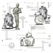 York DI0947 Star Wars: The Rise of Skywalker, Droids Unpasted Neutral Wallpaper
