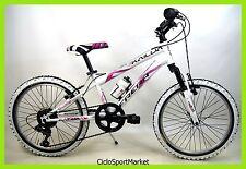 """Bicicletta Mountain Bike MTB Frera Ragazza/Bambina 20"""" 6V Colore Bianco/Viola"""