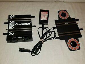 """Carrera Go 1/43 Slot Car Lot: Power Track, Cord, & Lap Counter, 4-5"""" - Excellent"""