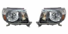 Right + Left Side Headlight PAIR For 2005-2011 Toyota Tacoma (w/ Sport Package)