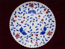 ROYAL VIENNA  AUSTRIA PORCELAIN PLATE BEEHIVE MARK GILDED COBALT BLUE RED FLORAL