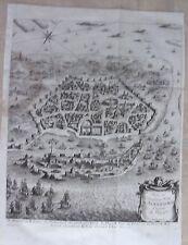 GRAVURE 18ème d' EPOQUE PLAN DE L' ANCIENNE VILLE ALEXANDRIE EGYPTE