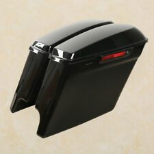 "5"" Stretched Extended Hard Saddle bags For Harley Touring Street Glide 2014-2019"
