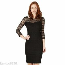New Julien MacDonald Star Black Geometric Lace Dress Sz UK 10 rrp £60