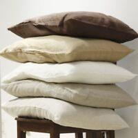 Linen Pillow Case Cover Envelope Closure Comforter Flax Pillowcase Beddings