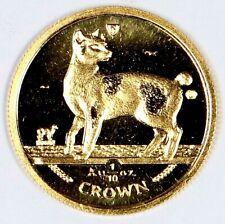 1994 Isle of Man 1/10oz .999 Gold Proof Japanese Bobtail Cat