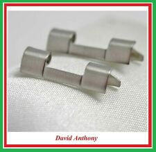 2 x 20mm Stainless Steel Watch Bracelet Straight End / Ends, LBS 1S
