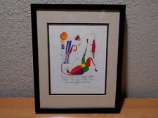 Brian Andreas Print Story People LAUGHTER & NOISE Framed Double Matted 1993