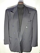 Pierre Cardin Dark Midnight Blue Suit Jacket, Double breasted, 46, Present - Tie