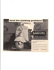 1956 LAMBRETTA SCOOTER ~ ORIGINAL SMALLER PRINT AD