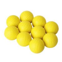 Practice PU Soft Foam Golf Balls Elastic Indoor Outdoor Training Yellow 10pcs