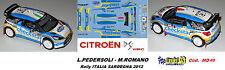 CITROEN DS3  WRC - CHECKSTAR  - Rally  ITALIA SARDEGNA   2012