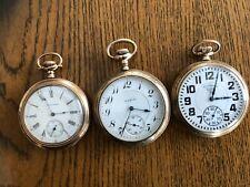 Watches Lot of 3 Waltham & Elgin Pocket