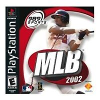 MLB 2002 PlayStation For PlayStation 1 PS1 Baseball 5E