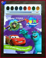DISNEY PIXAR Paint By Number Book - BUZZ CARS McQUEEN NEMO MONSTERS Activity NEW