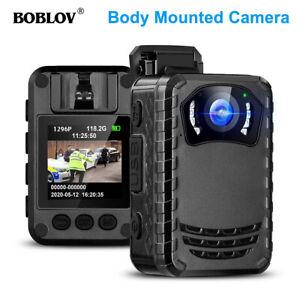 BOBLOV Mini Body Worn Cam. 1296P Full HD für täglichen Schutz und Outdoor-Traves