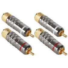 Audiophile Locking RCA Connector 2 Pair