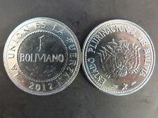 PIECE MONNAIE BOLIVIE BOLIVIA 1 BOLIVIANO 2012 NEUVE NEW UNC