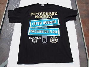 Pittsburgh Penguins Hockey Fifth Avenue & Washington Place Large T-shirt NWOT