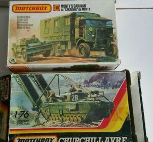 Matchbox 40175 Monty's Caravan & Scout Car and Churchill A.V.R.E.