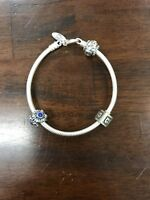 "Pandora Lobster Clasp Bracelet Sterling Silver Size 7.5"""