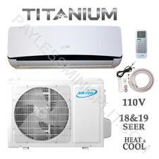 9,000 BTU Ductless Mini Split AirCon Conditioner Heat Pump 19 SEER 115V  3/4 Ton