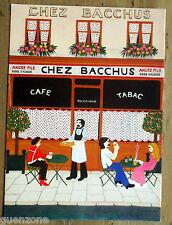 Carte postale CHEZ BACCHUS MICHEL CORDI peinture naive   postcard