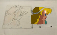 Little Mermaid Lena Production Animation Cell With Pencil Drawing 1989