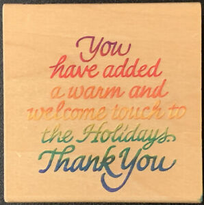 Stampendous Warm And Welcome Touch To The Holidays Rubber Stamp
