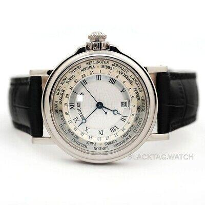 Breguet Marine Hora Mundi 24 Times Zone Wristwatch 3700BB/12/9V6 White Gold