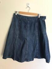 LL Bean Ladies Denim A Line Skirt 10 reg Classic Straight Lovely Skirt